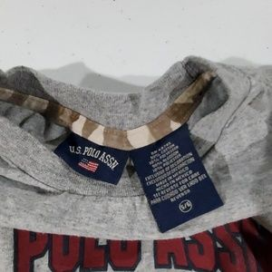 U.S. Polo Assn. Shirts & Tops - Boy's Grey US Polo Assn long sleeve tee 5/6